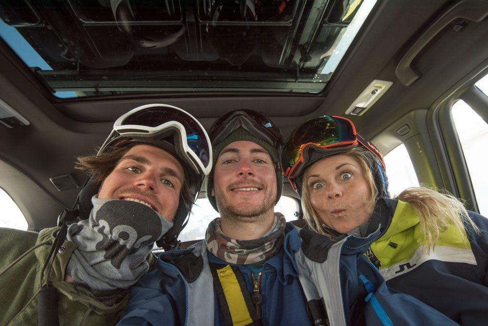 Selfie mit Sandra Lahnsteiner und Roli Loipold