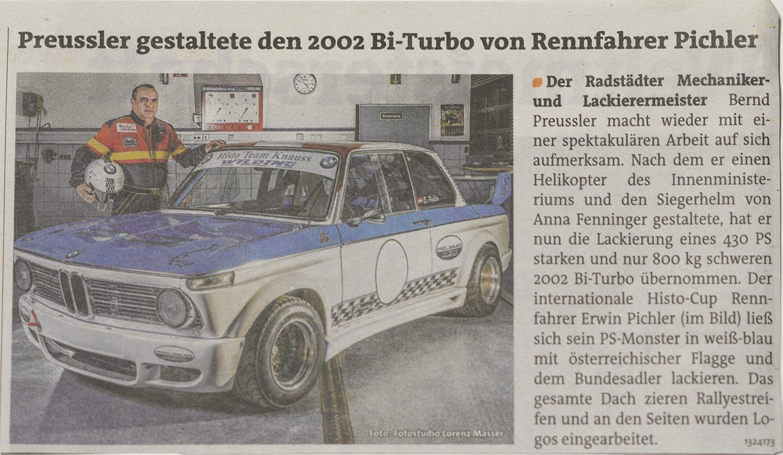 Lackierung, BMW, 2002 Bi Turbo, Histo Cup, Auto, Werbung, Werbefoto, Erwin Pichler, Preussler, Radstadt