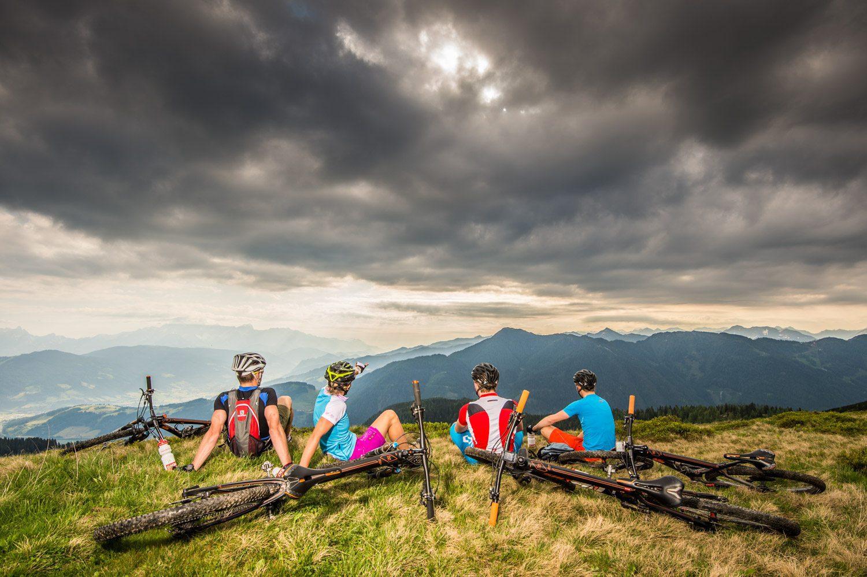 Radsportszene, Mountainbike, Flachau, Mountainbike, Sunset, Mountain, Sportfotografie, Fotograf Land Salzburg, Lorenz Masser