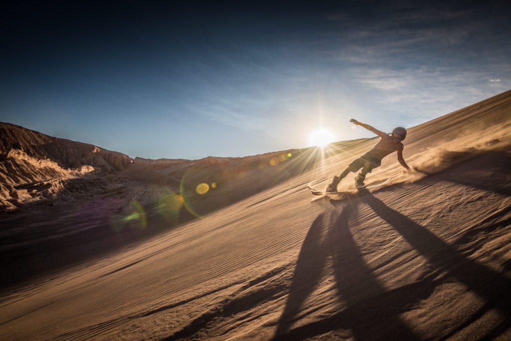 Sandsurfen in Südamerika