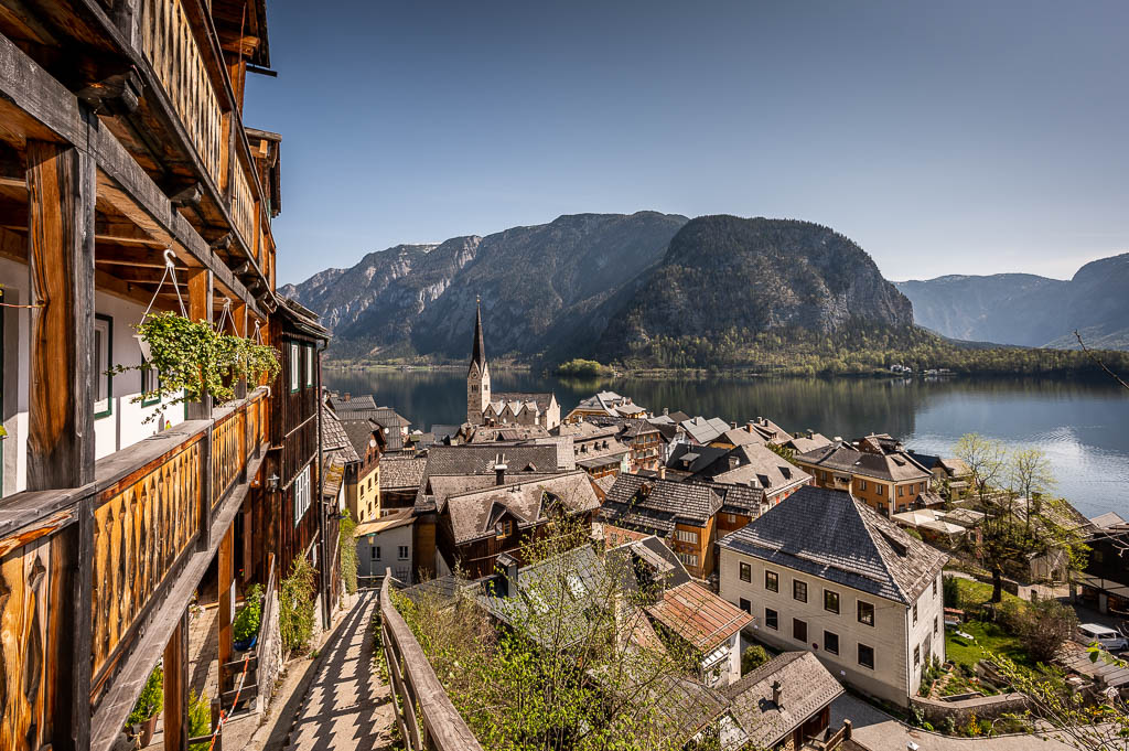 Hallstatt, Salzkammergut, Gebirge, See, Kirche, Ortsbild